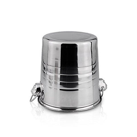 Image of stainless steel champagne ice bucket wine chiller