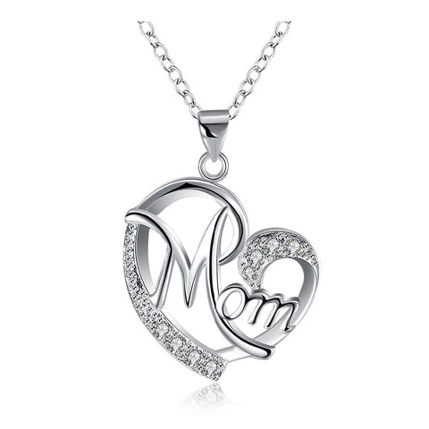 Image of mother's day necklace with rhinestones