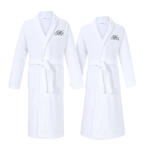 mr and mrs bathrobes for couples