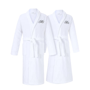 mr and mrs bathrobes set for couples for cotton anniversary gift