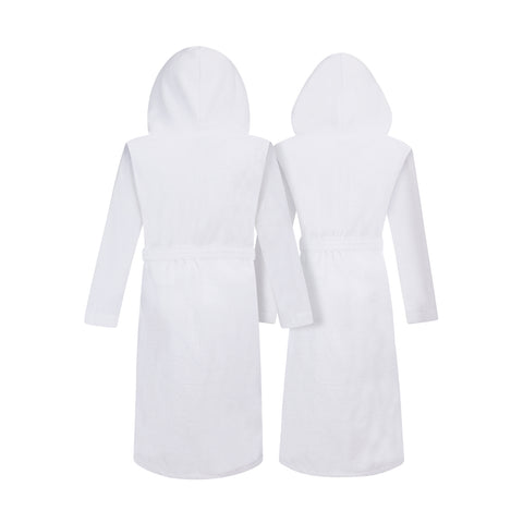 His and Hers Hooded Bathrobes | Set of Two Spa Robes with Hoods with His & Hers Monograms