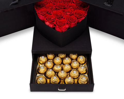 Image of Red Roses & Chocolates Gift Box
