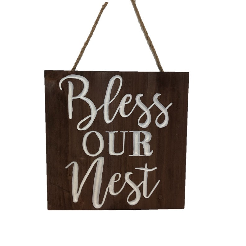 Bless Our Nest Wooden Wall Art
