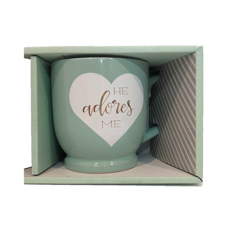 Image of She Loves Me & He Adores Me Romantic Mug Set