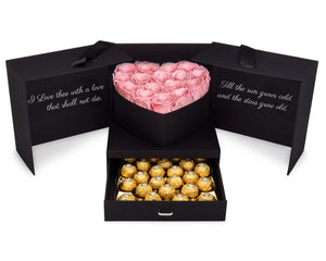 Pink Roses & Chocolates Gift Box