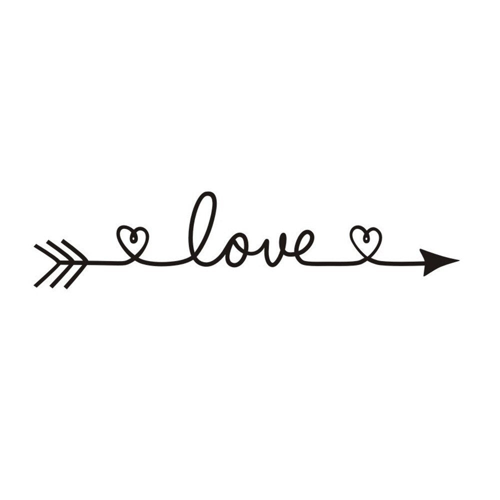 love wall decal bedroom decoration