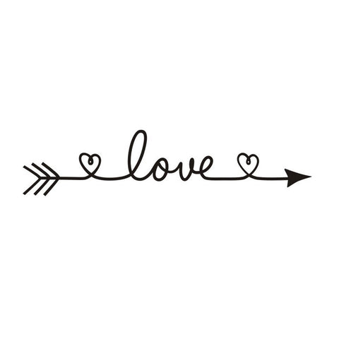 Image of love wall decal bedroom decoration
