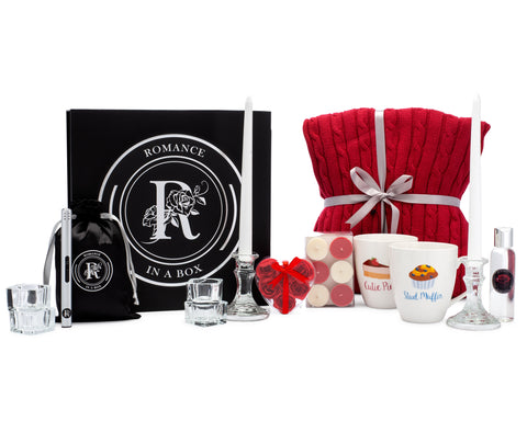 Image of romantic valentines gift bundle basket