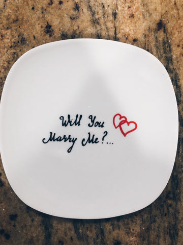Image of Proposal Dessert Plate