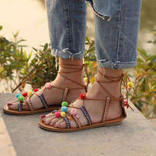 Marlena Laced Up Boho Sandals - Spirited Jungle
