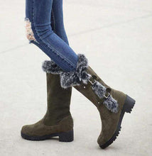 Abigail Buckle Fur Boots - Spirited Jungle