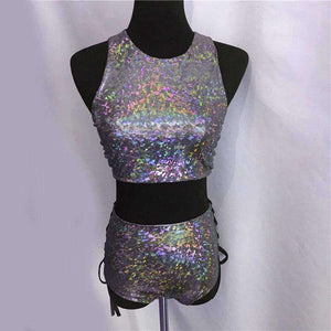 Holographic Rave Two Piece Set - Spirited Jungle