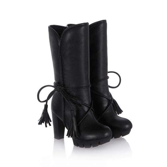 Valeria Leather Heel Boots - Spirited Jungle