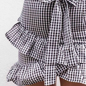 Jordyn Plaid Bow Skirt - Spirited Jungle