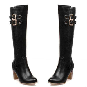 Aleah Knee High Leather Boots - Spirited Jungle