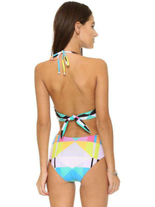Geometric Attraction One-Piece Swimsuit - Spirited Jungle