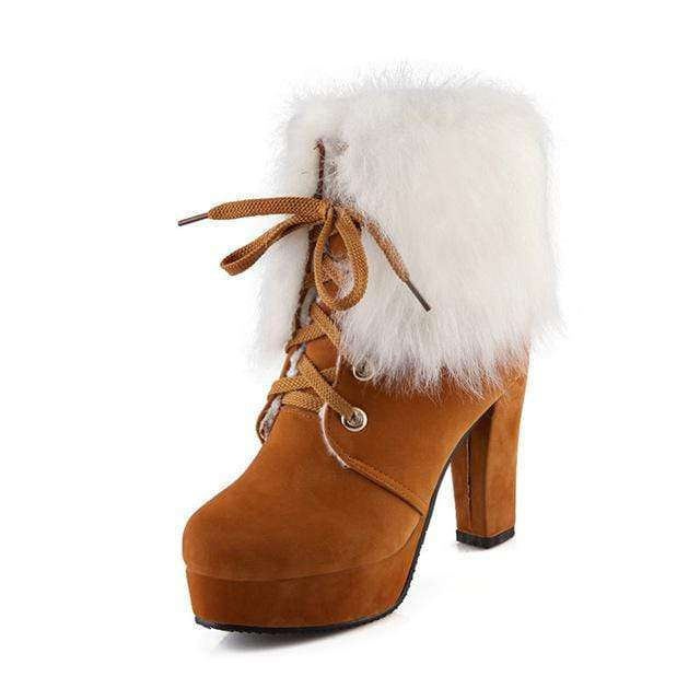 Whitney Fur Boots - Spirited Jungle