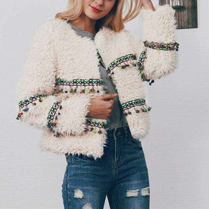 Festive Boho Fur Coat - Spirited Jungle