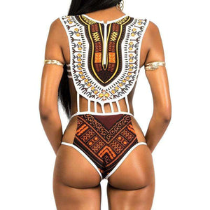 Nefertari High Cut Monokini - Spirited Jungle