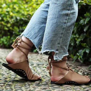 Sylvia Leather Lace Sandals