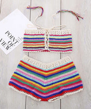 Bermuda Striped Crochet Bikini Set - Spirited Jungle