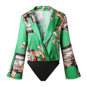 Floral China Bodysuit - Spirited Jungle