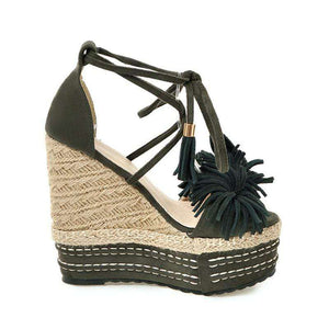 Dolce Tassel Heels - Spirited Jungle