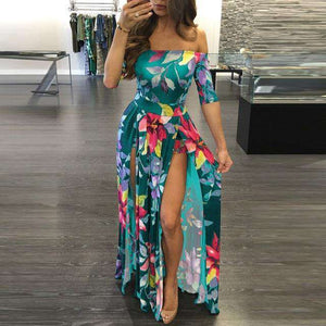Floral Spectrum Dress - Spirited Jungle