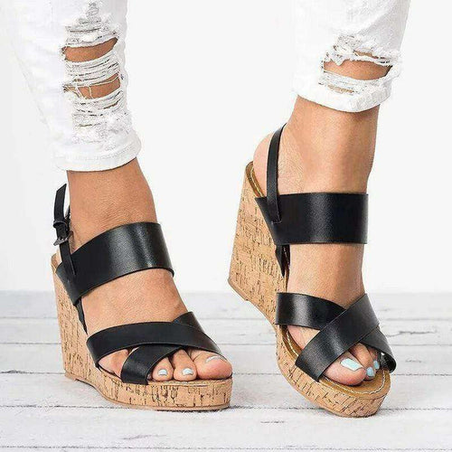 Caesar Open Toe Wedge Sandals - Spirited Jungle
