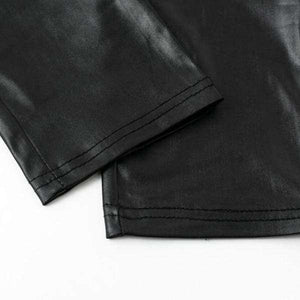 Back Zipper Leather Pants - Spirited Jungle