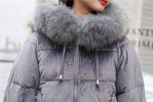 Allie Fur Parka Coat - Spirited Jungle