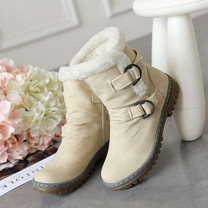 Hannah Buckle Fur Snow Boots - Spirited Jungle