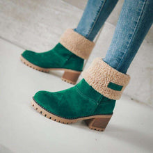 Skylar Fur Heel Boots - Spirited Jungle