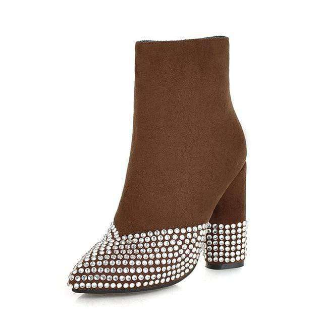 Gianna Studded Suede Boots - Spirited Jungle