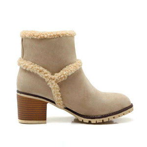 Sasha High Heel Fur Boots - Spirited Jungle