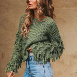 Ruby Tassel Sweater - Spirited Jungle