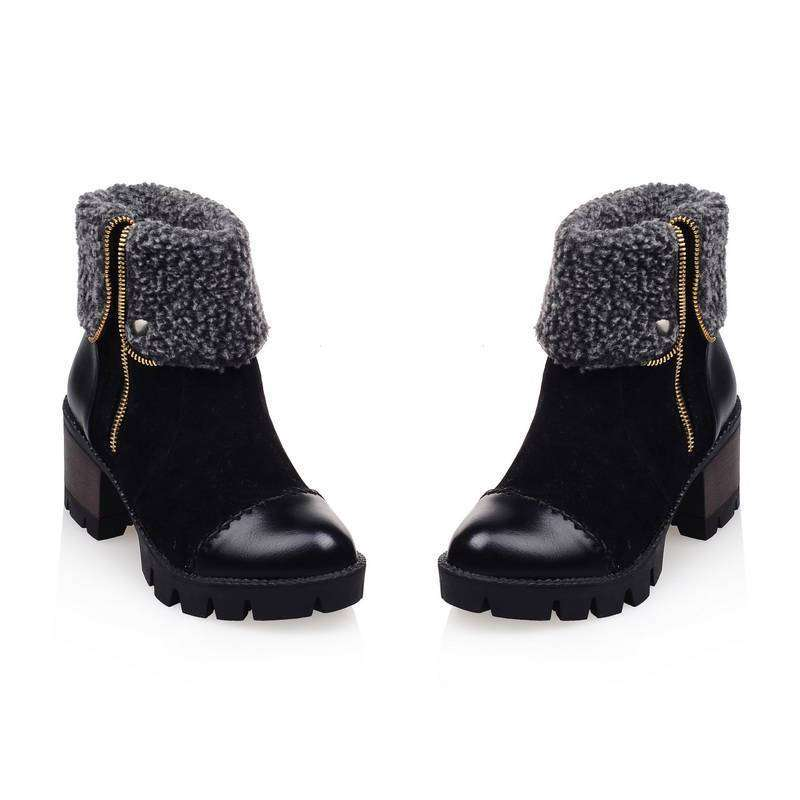 Dakota Leather Fur Boots - Spirited Jungle