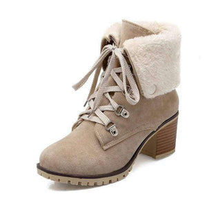 Tatiana Fur Heel Boots - Spirited Jungle