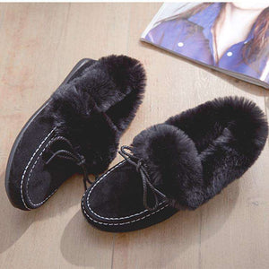 Adele Fur Moccasins - Spirited Jungle