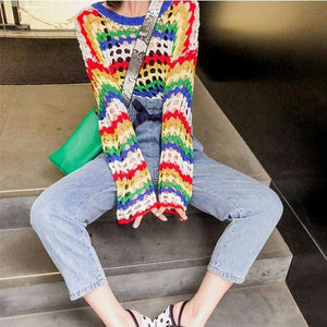 Zelda Rainbow Sweater - Spirited Jungle