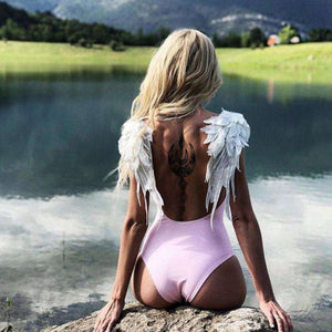 Summer Beach Angel One-Piece Swimsuit