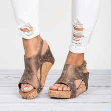 Persia Open Toe Wedge Sandals - Spirited Jungle