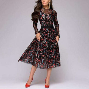 Kinematic Floral Boho Dress - Spirited Jungle