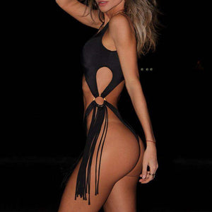 Marisol Brazilian String One-Piece Swimsuit - Spirited Jungle
