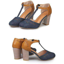 Ray T-Strap Heels - Spirited Jungle