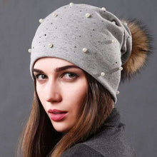 Rosie Pearled Pom Pom Beanie - Spirited Jungle