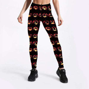 Pumpkin Hallows Leggings - Spirited Jungle