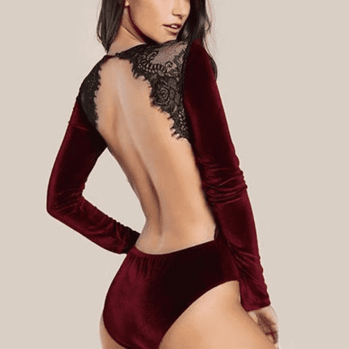 Scarlet Night Bodysuit - Spirited Jungle