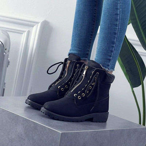 Demi Cross Tied Snow Boots - Spirited Jungle