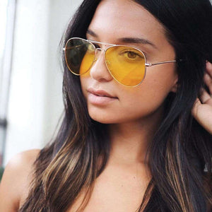 Yellow Aviator Sunglasses - Spirited Jungle